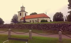 Marbäcks kyrka (Ulricehamns kommun) Tags: kyrka marbäck kyrktorn kyrkogårdsmur