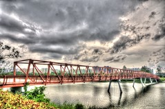 Punggol Bridge (clemontz) Tags: bridge metal landscape nikon singapore punggol d300