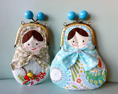 Matryoshka, Babushka, or Russian Doll frame purse (OrangeZoo) Tags: blue sky doll handmade russian babushka matryoshka