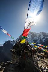 The peace flag (beena.samadh21) Tags: flag peace nepal everestbasecamp trekking mountains 2016 ebc khumburegion colorful