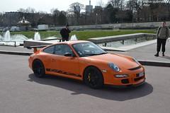 Porsche 911 GT3 RS 997 (Monde-Auto Passion Photos) Tags: auto automobile porsche 911 gt3 rs 997 orange coupé france rally paris evenement supercar sportive
