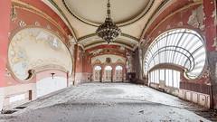 The Casino (suspiciousminds) Tags: urbex urbanexploration abandoned decay forsaken casino ballroom chandelier artnouveau