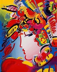 Peter Max - Blushing Beauty (davekers) Tags: peter max blushing beauty retro psychedelic paint painters 80s flower flowers color colors palette palettes commercial art pop modern line gradient gradients popartist artists paintings museum gallery galleries collector curator jewish jews jew judaism figurative female woman feminine poster posters print prints posterprint outline