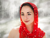 Smile of the Red Princess (JDS Fine Art & Fashion Photography) Tags: model scarf red redscarf beauty asian asianbeauty asianmodel smile winter ice bestportraitsaoi