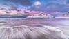 Sky Blue Pink (Jerry Fryer) Tags: flakstad nordland norway lofoten beach coast sea surf mountain snow rocks beltofvenus clouds pink blue longexposure 6d ef1635mmf4l lee filters 6ndhard sunset