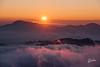 Sunset over the clouds (Riccardo Maria Mantero) Tags: clouds mantero riccardomantero riccardomariamantero sunset fog landscape outdoors pink sky sun travel