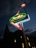 Gothic and Contemporary (Dun.can) Tags: middlehill nottingham nottinghamcontemporary googie sign gothic church morning winter dawn lights