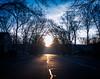 Top of the Morning (agladshtein) Tags: shipleyschoice severnapark maryland winter seasons sunrise dawn sky blue sonyrx100v road neighborhood