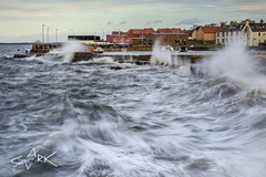 storm (Mike Clark 100) Tags: mikeclark scotland eastlothian storm waves cockenzie harbour houses angry sea seascape