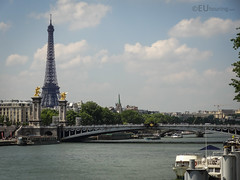 Pont Alexandre III, Eiffel Tower and Seine (eutouring) Tags: paris france riverseine river seine pontalexandreiii pont bridge eiffel eiffeltower tower