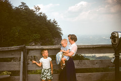 Buddy, Chuck, Mother looking toward VA, TN Pinnacle Mtn KY August 1954.jpg (buddymedbery) Tags: years 1950s 1954 family kentucky unitedstates pinnaclemountain buddymedbery chuck mother