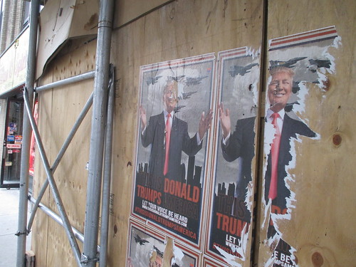 This is Donald Trumps America - sidewalk poster 0958