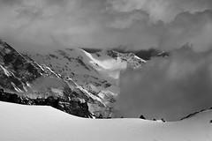view (makuzrh) Tags: mont blanc chamonix aiguille du midi france alpin alps schnee snow schwarz weiss schatten natur landschaft stille unaufgeregt