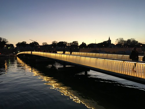 Footbridge at sunset, Zadar, Croatia - March 2017