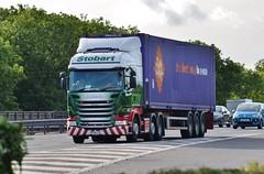 Eddie Stobart 'Amanda S' (stavioni) Tags: amanda truck motorway m1 s container lorry eddie trailer scania esl 2xl spotter stobart r450 h6945 pf14lcc