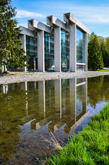 Museum of Anthropology (vidchen) Tags: reflection museum vancouver university bc ubc columbia british moa anthropology