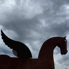 Horse, South Tyrol (fabianmohr) Tags: sky italy sculpture cloud south hore tyrol southtyrol