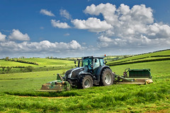 Butterfly Season (explored)(Getty listed) (Alan10eden) Tags: tractor grass canon butterfly landscape spring view farming sigma bluesky mow cutting agriculture silage wilting mowing mowers ulster ryegrass 70d 1770mm valtra 1stcut ensile grasssilage alanhopps
