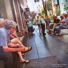Old age 4 (Carmen Cabrera .) Tags: street old man men sitting outdoor leisure talking retired oldmen iphone leisuretime mobileart jubilados mobilephotography iphoneart iphoneography iphoneographer iphonographer editedoniphone iphone4s reto12meses12temas