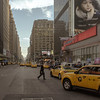 Dusky 7th Avenue (StephanPhoto) Tags: nyc newyorkcity sunset ny yellow evening eyes dusk manhattan 34thstreet advertisement drowsy taxicabs 7thavenue
