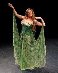 """Leslie Margherita as the Lady of the Lake in the 2010 Music Circus premiere of the Tony Award-winning Best Musical """"Monty Python's Spamalot"""" at the Wells Fargo Pavilion, July 9-18.  Photo by Charr Crail."""