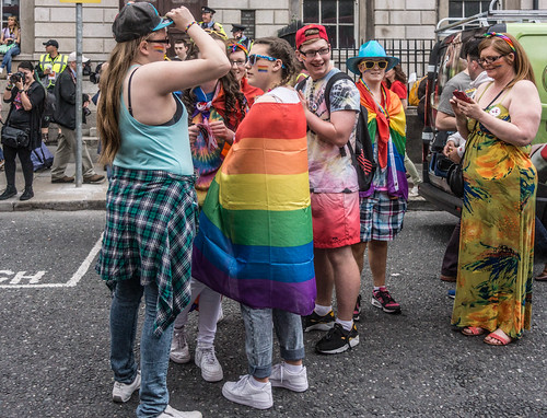 DUBLIN 2015 GAY PRIDE FESTIVAL [BEFORE THE ACTUAL PARADE] REF-106264
