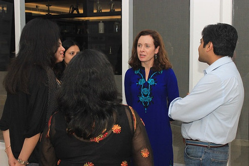 Faculty Whitney Hischier interacting with participants