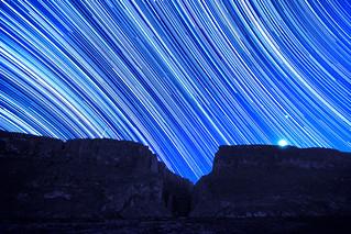 Santa Elena Canyon Star Trails