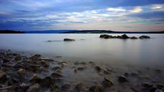 Mjslangs ii (O) Tags: longexposure sky lake norway clouds norge hamar mjsa hedmark helgya hoyandx400 fujifilmx100