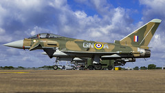 RAF Typhoon ZK349 painted in BBMF Hurricane Colours at The Royal International Air Tattoo RIAT 2015, RAF Fairford