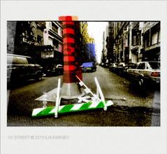 NYCStree_0017EXPO (JGF015) Tags: ny nyc street trace fingerprints cuthmarks manhattan pop barier urbanfun tracks pipe screen lipstik easternvillage hoofprints drift subliminaldrift limitsofdisgression jungiandecompression truba lerêve muchacho