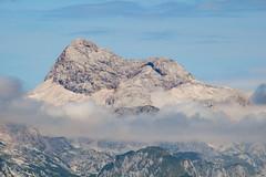 Triglav (2864 m) (Marua erjal) Tags: park sky mountain mountains alps nature beautiful clouds julian rocks view hiking hut slovenia national slovenija bohinj vogel highest triglav hribi
