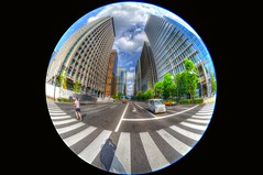 Tokyo Impressions (Matthias Harbers) Tags: street city summer sky urban tree ex japan clouds photoshop buildings tokyo nikon taxi capital sigma center fisheye elements d750 dxo 8mm hdr transporter dg selfie f35 chiyoda 3xp photomatix tonemapped circularfisheye sigma8mmf35exdgcircularfisheye