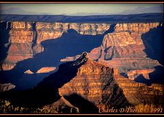 Angel's Gate (ctofcsco) Tags: angelsgate black canon canoscan canoscan9000fmarkii colorslidefilm contrast ef100300mmf56l eos eos620 explore film grandcanyon arizona geo:lat=3619352454 geo:lon=11204866070 geotagged northrim orange red scannedimage slidefilm sunset telephoto unitedstates usa outdoor canyon landscape