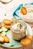 Smoked Salmon  Dip. (Zoryanchik) Tags: salmon dip smoked pate spread cream fish mousse cheese bread food snack lunch dish appetizer dill toast rillette herb delicious jar breakfast starter creamy cuisine slice paste crackers baguette