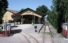 Pithiviers station (SteveInLeighton's Photos) Tags: transparency kodachrome france may narrowgauge railroad railway 1997 station pithiviers amtp