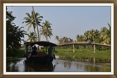 Rickshaw crossing (DSC_8934) (Tartarin2009 (travelling)) Tags: tartarin2009 nikon d600 travel india kerala kumarakom backwaters water waterscape boat bateau bridge rickshaw tuktuk