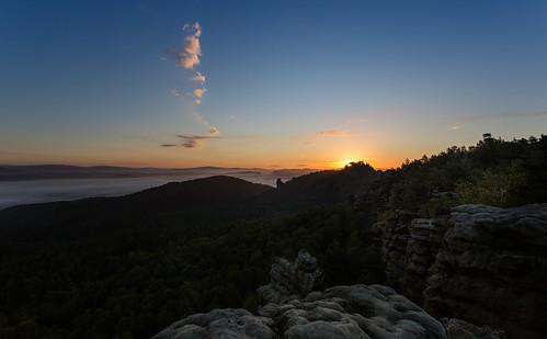 Sonnenaufgang überm Papststein