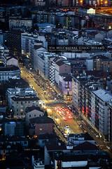 Via Melchiorre Gioia, Milano (Obliot) Tags: lights night milano 2017 melchiorregioia obliot street top trafficlights palazzolombardia traffic january lombardia italia it mp