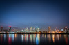 Canary Blue - Explored (Photo Lab by Ross Farnham) Tags: canary wharf london southbank thames wide angle skyline cityscape sony lee filters long exposure le lights