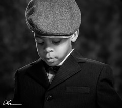 being a grown man starts from child hood (Anthony. B) Tags: boy child kids blackandwhite nikon d3100 55200mm portrait suit hat monochrome