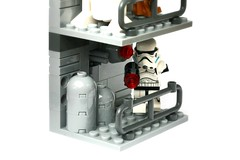 Star Wars, chase in the Imperial Shuttle (chihokim) Tags: star wars c3po r2d2 stormy storm trooper lego moc