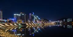 An evening in Korea (Per-Karlsson) Tags: yeosu korea water waterfront sea beachfront hotels stillness tranquility city cityscape urban southkorea