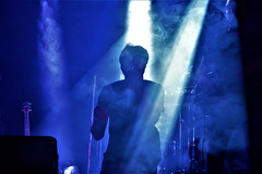 Hazy passion (Francesca Ricci Nature & Life) Tags: concert music musician singer light lights smoke haze stage performance blue silhouette man portrait
