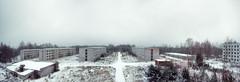 Abandoned Colony (Ralph Graef) Tags: panoramic panorama abandoned decay desolation desolate plattenbau urban urbane urbanization prefab winter snow