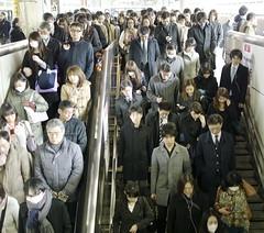 rush_hour_P1280889 (strange_hair) Tags: rush station winter tokyo japan street stair