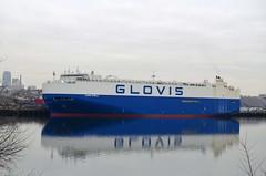 Glovis Stella (jelpics) Tags: glovisstella bostonautoport cargoship carcarrier glovis roro commercialship merchantship boat boston bostonharbor bostonma harbor massachusetts ocean port sea ship vessel massport