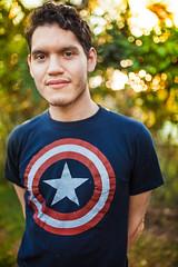 Luuisa (Aw Snap!) Tags: 5dmark2 canon 35mm sigma 14 portrait backyard male model malemodel cutie nerd captain america