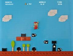 Super Mario Bros. (CeciΙie) Tags: lego moc mario supermariobros supermario bulletbill retro 2d