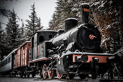 old smokey (Anthony P26) Tags: category eskisehir landscape places snow travel turkey yunusemrecampus train transport steam steamtrain frozen freezin carriage transportation canon1585mm canon70d canon outdoor trees
